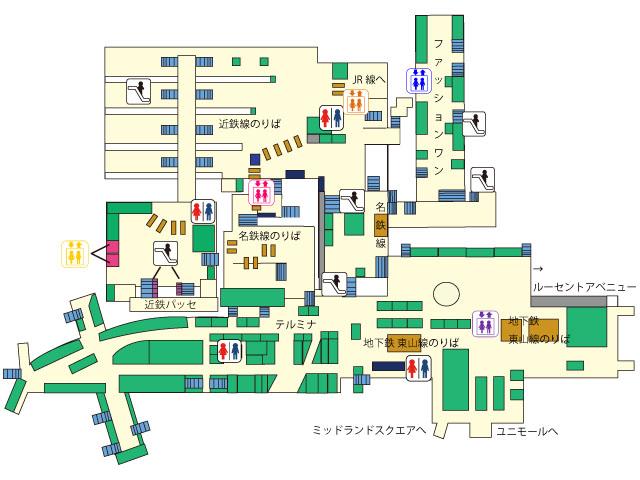 駅 図 名古屋 構内